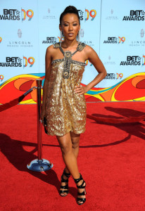 Denyce Lawton arrives at the 2009 BET Awards held at the Shrine Auditorium on June 28th 2009 in Los Angeles