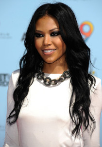 Amerie arrives at the 2009 BET Awards held at the Shrine Auditorium on June 28th 2009 in Los Angeles