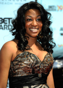 Jessica Reedy arrives at the 2009 BET Awards held at the Shrine Auditorium on June 28th 2009 in Los Angeles