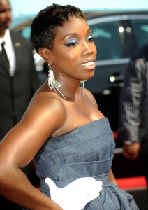Estelle arrives at the 2009 BET Awards held at the Shrine Auditorium on June 28th 2009 in Los Angeles