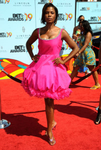 Omarosa Manigault Stallworth arrives at the 2009 BET Awards held at the Shrine Auditorium on June 28th 2009 in Los Angeles
