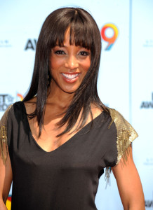 Shaun Robinson arrives at the 2009 BET Awards held at the Shrine Auditorium on June 28th 2009 in Los Angeles