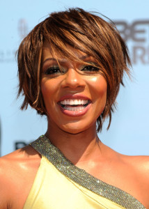 Wendy Raquel arrives at the 2009 BET Awards held at the Shrine Auditorium on June 28th 2009 in Los Angeles