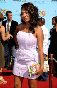 LaLa Vazquez arrives at the 2009 BET Awards held at the Shrine Auditorium on June 28th 2009 in Los Angeles