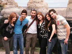Ibrahim Dashti with Mohamed Bash, Lara Scandar and Basma Bousiel