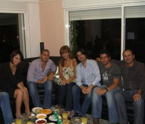 Zaher Zorgatti with Inass Laswad and Nazem Izzideen and Michel Rmeih
