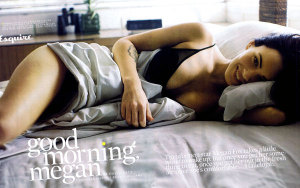 Megan Fox photo in a May 2009 magazine issue modeling for underwears 2