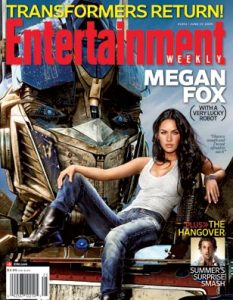 actress Megan Fox on the cover of Entertainment Weekly magazine issue of july 2009 1