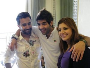 Ibrahim Dashti with Star Academy staff backstage 1