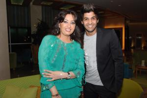 Ibrahim Dashti with singer Latifa Tunisya
