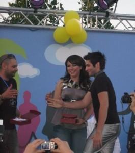 Yahia Sweis with Shahinaz on stage