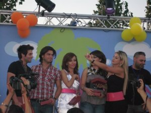 Yahia Sweis on stage during a singing competition