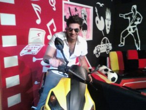 Yahia Sweis on a motor bike