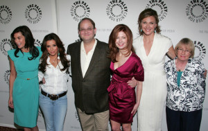 Teri Hatcher with Eva Longoria Parker Marc Cherry  Dana Delany Brenda Strong and Kathryn Joosten at the Desperate Housewives event at PaleyFest09 at ArcLight Cinemas on April 18th 2009 in Hollywood