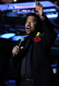 Lionel Richie on stage during the Michael Jackson Memorial Service