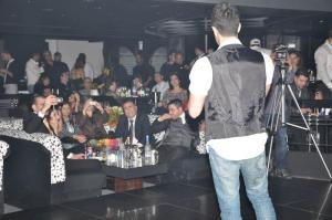 Saed Ramadan picture during a concert in Lebanon Beirut singing on stage with the audience