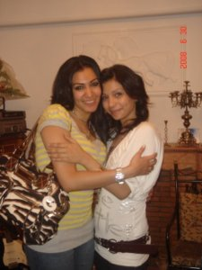 Mirhan Hussein picture with Sally Hussein