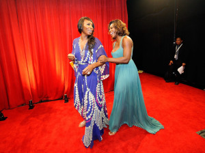 Serena Williams and Venus Williams backstage at the 17th Annual ESPY Awards