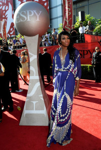 Venus Williams arrives on the red carpet of the 17th Annual ESPY Awards