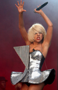 Lady GaGa performs on Stage at the Glastonbury Festival on June 26th 2009 in Glastonbury England 2