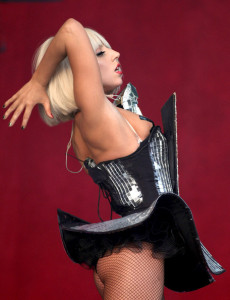 Lady GaGa performs on Stage at the Glastonbury Festival on June 26th 2009 in Glastonbury England 4