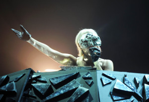 Lady GaGa performs at a concert in Munich  Germany in July 2009 4