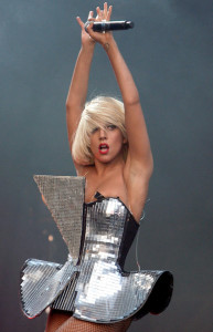 Lady GaGa performs on Stage at the Glastonbury Festival on June 26th 2009 in Glastonbury England 3