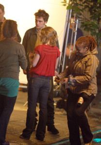 Robert Pattinson and Emilie de Ravin during their secene filming for their upcoming movie Remember Me 2