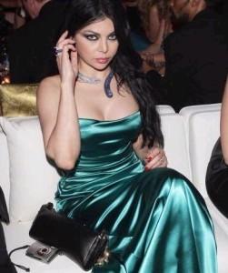 Haifa Wehbe at Cannes festival 2009 in a green dress