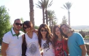Inass Laswad with Khawla Bin Imran Zaher Zorgatti Diala Odeh and Nazim Ezzideen at the dead sea in Amman Jordan