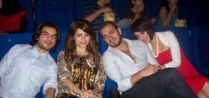 Iness Al Aswad with Diala Odeh Nazem Ezzideen and Zahir Zorgatti at a cinema in Amman Jordan