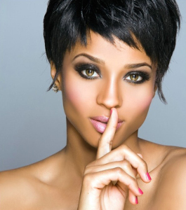 ciara and the new hair cut picture in July 2009 1