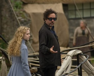 Mia Wasikowska pictures on the filming set of Alice in Wonderland 2010 movie 5