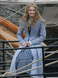 Mia Wasikowska pictures on the filming set of Alice in Wonderland 2010 movie 4