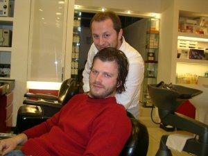 Kivanc Tatlitug photos at the hair salon