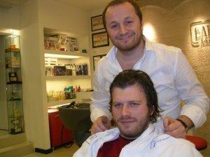 Kivanc Tatlitug photos at the hair salon to cut his hair