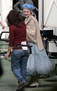 Mia Wasikowska photos on the filming set of Alice In wonderland upcoming movie 2