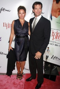 Jill Goodacre and her husband Harry Connick Jr on the red carpet of the Living Proof New York premiere at Paris Theatre in New York City on Septmeber 24th 2008 3