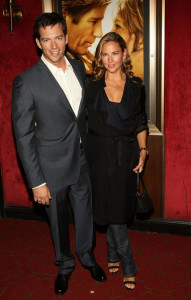 Jill Goodacre attends the premiere of Nights in Rodanthe with her husband Harry Connick Jr at the Ziegfeld Theatre on September 23rd 2008 in New York City