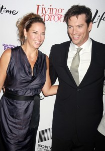 Jill Goodacre and her husband Harry Connick Jr on the red carpet of the Living Proof New York premiere at Paris Theatre in New York City on Septmeber 24th 2008 6
