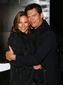 Jill Goodacre pictures with husband Harry Connick Jr attending the Burberry Day event at the Palace Hotel in New York City on May 28th 2009 1