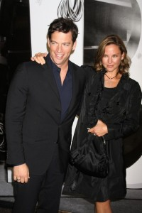 Jill Goodacre pictures with husband Harry Connick Jr attending the Burberry Day event at the Palace Hotel in New York City on May 28th 2009 2