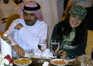 Dianna Haddad with her husband Suhail Al Abdoul