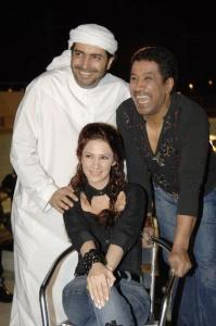 Dianna Haddad with Cheb Khaled and her husband Sohail Abdool