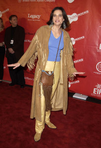 Terry Farrell picture as she arrives at the 1st Annual Entertainment Industry Foundation Love Rocks Concert to Honor Bono from U2 held at the Kodak Theatre in Hollywood on February 14th 2002 4
