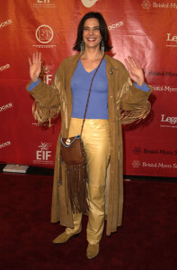 Terry Farrell picture as she arrives at the 1st Annual Entertainment Industry Foundation Love Rocks Concert to Honor Bono from U2 held at the Kodak Theatre in Hollywood on February 14th 2002 1