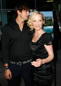 Ashton Kutcher picture with Anne Heche at the premiere of Anchor Bay Films ( Spread ) held at ArcLight Hollywood on August 3rd, 2009