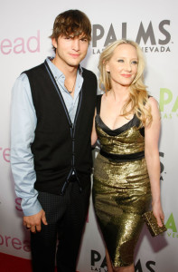 Anne Heche and Ashton Kutcher at the screening of Anchor Bay Films ( Spread ) which is held at the Brenden Theatres inside the Palms Casino Resort on August 5th, 2009 in Las Vegas, Nevada