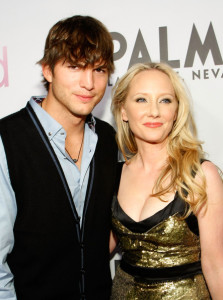 Anne Heche with Ashton Kutcher at the screening of Anchor Bay Films ( Spread ) which is held at the Brenden Theatres inside the Palms Casino Resort on August 5th, 2009 in Las Vegas, Nevada