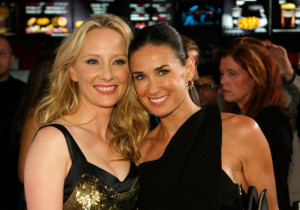 Demi Moore and Anne Heche at the screening of Anchor Bay Films ( Spread ) which is held at the Brenden Theatres inside the Palms Casino Resort on August 5th, 2009 in Las Vegas, Nevada
